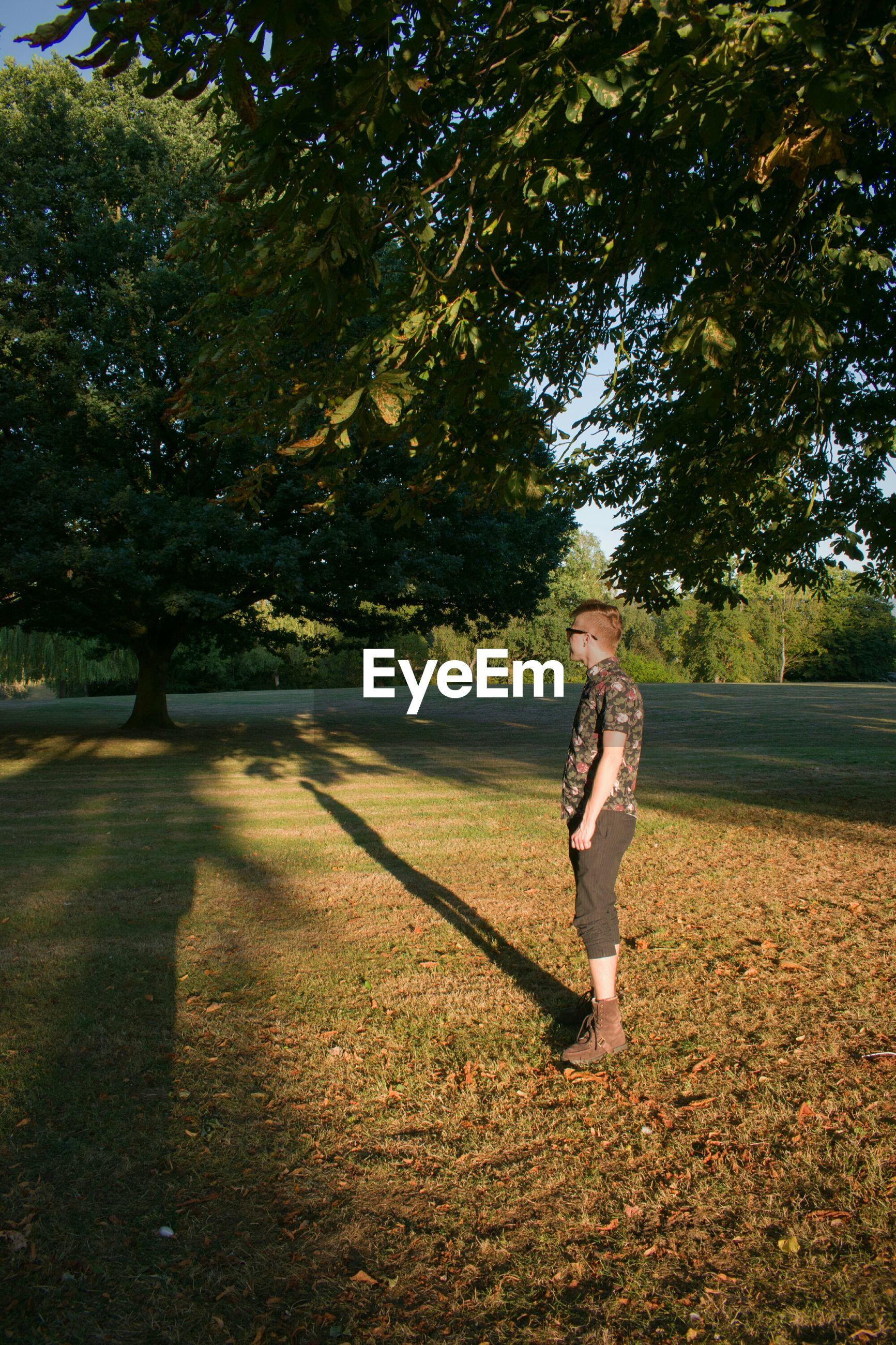 Full length of man standing in park