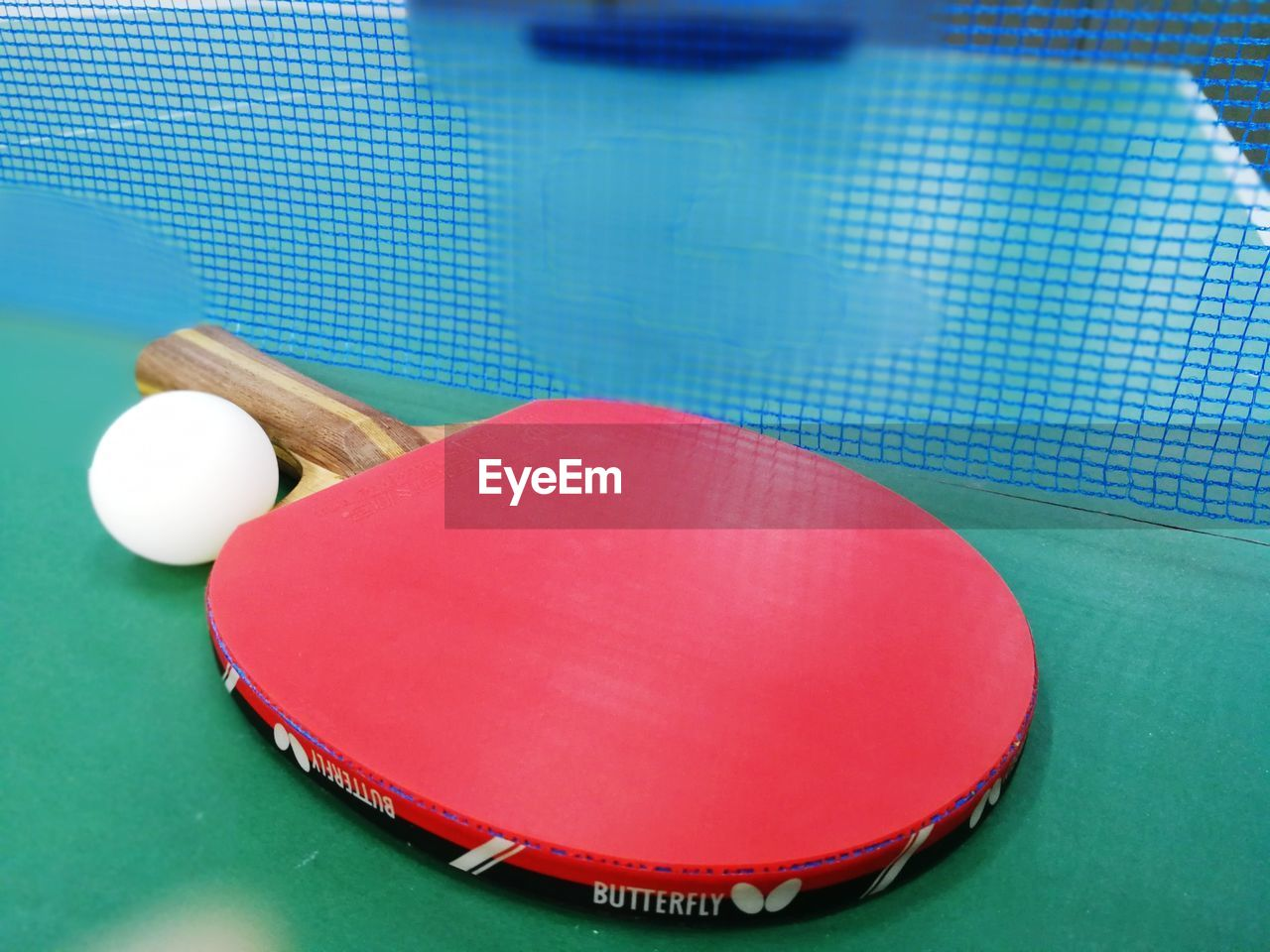 sport, ball, red, sports equipment, table, indoors, close-up, table tennis, still life, high angle view, net - sports equipment, no people, pool, relaxation, pink color, sphere, racket, multi colored, green color, blue, pool table, swimming pool