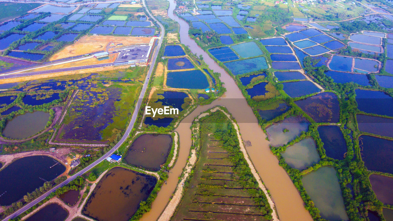 Aerial View Of Flooded Landscape