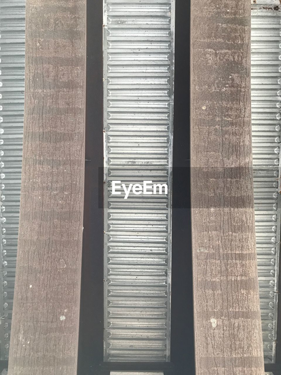 no people, day, wood - material, indoors, blinds, architecture, close-up, corrugated iron