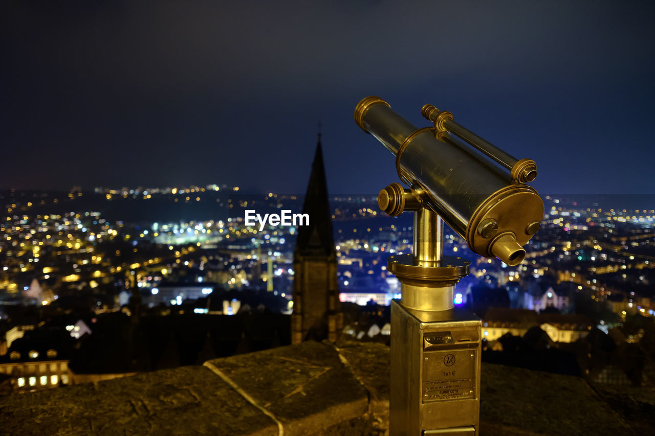 night, illuminated, sky, cityscape, architecture, outdoors, coin-operated binoculars, no people, built structure, building exterior, nature, city