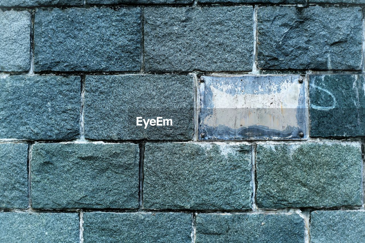 full frame, backgrounds, wall - building feature, wall, pattern, textured, no people, built structure, close-up, brick, gray, solid, day, architecture, outdoors, stone material, block, stone - object, brick wall, rough, concrete, stone wall