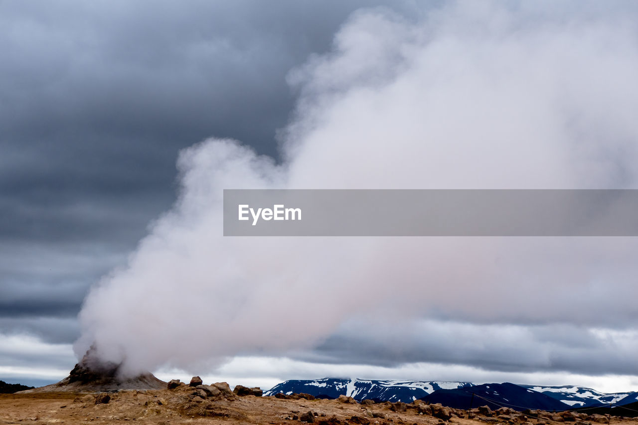cloud - sky, smoke - physical structure, sky, beauty in nature, scenics - nature, environment, nature, mountain, non-urban scene, no people, power in nature, geology, day, erupting, steam, emitting, physical geography, power, water, outdoors, pollution