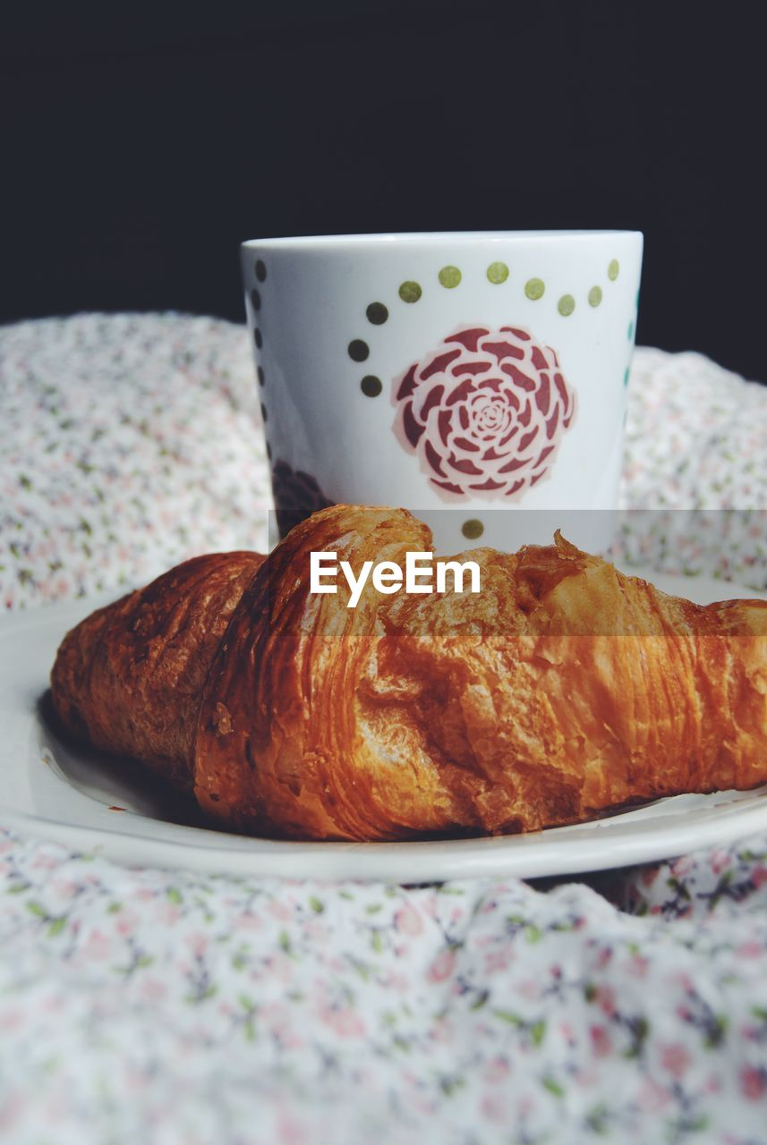 croissant, food and drink, food, still life, breakfast, plate, freshness, bread, french food, sweet food, coffee - drink, table, indoors, no people, bun, close-up, ready-to-eat, healthy eating, day
