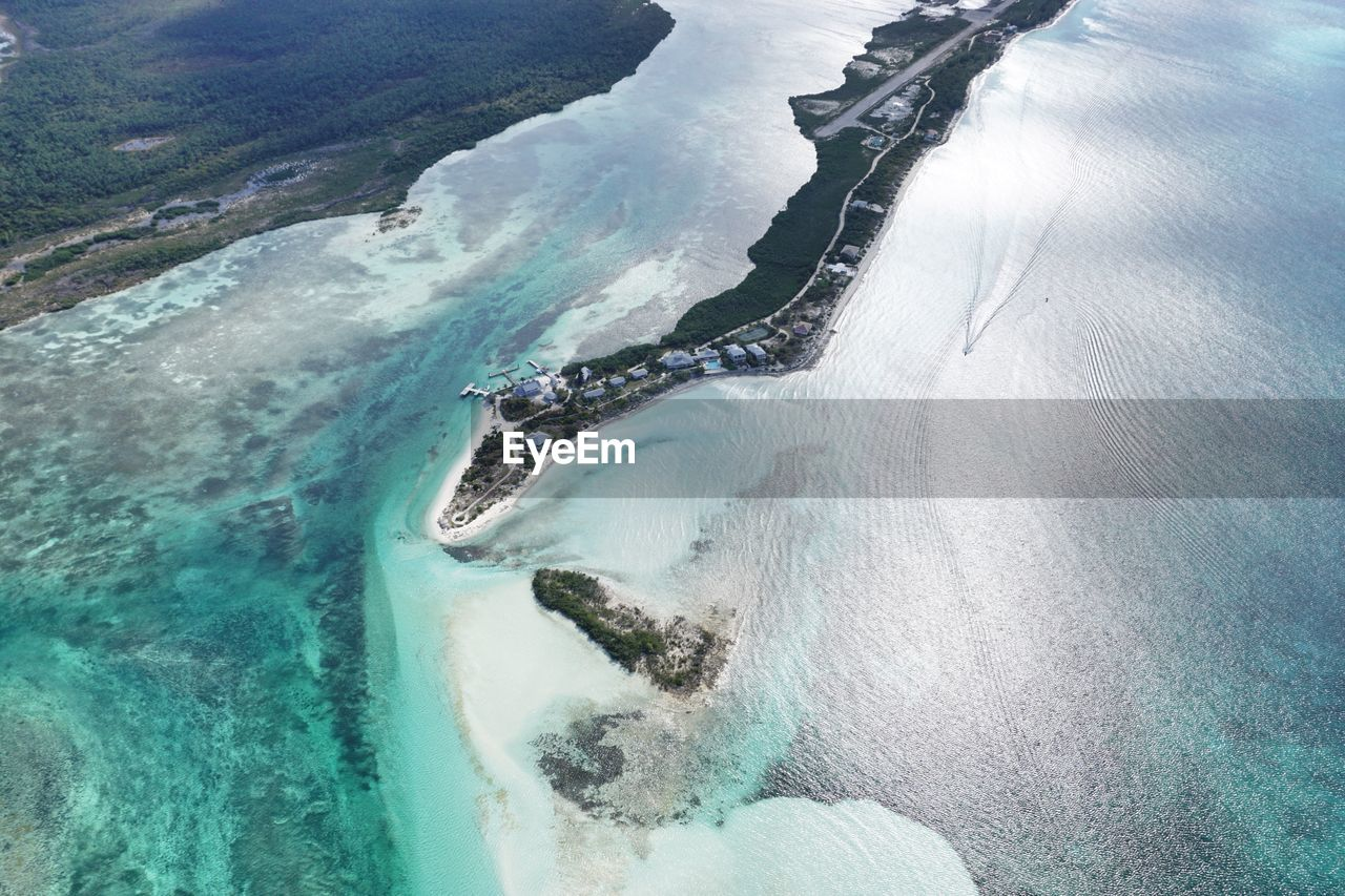 Aerial View Of Private Island