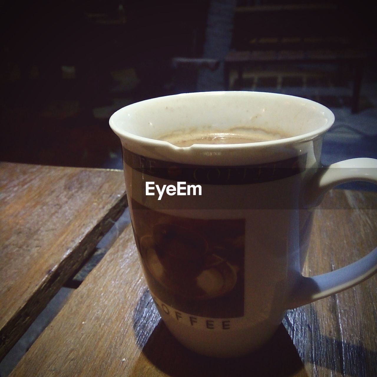 drink, coffee cup, food and drink, refreshment, coffee - drink, cup, table, indoors, no people, saucer, freshness, beverage, frothy drink, wood - material, close-up, tea - hot drink, liquid, healthy eating, day, froth art