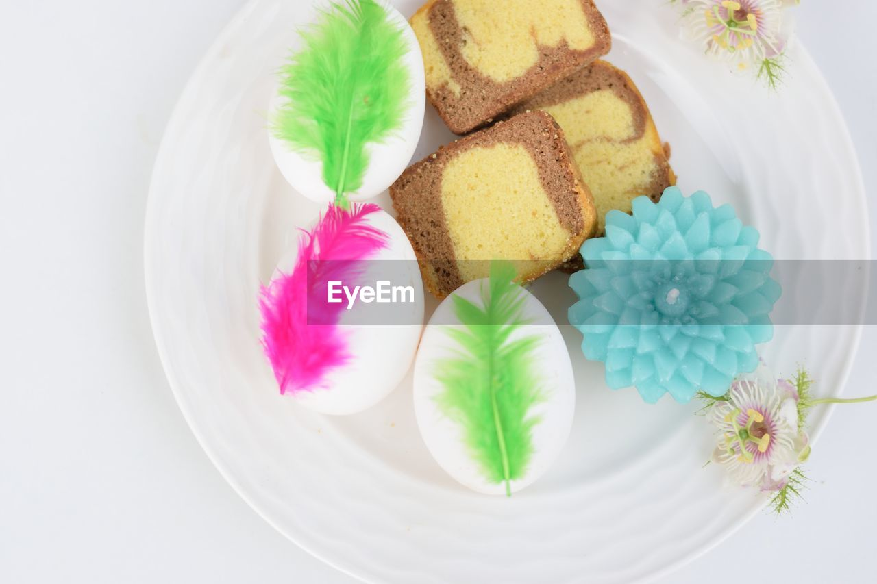 sweet food, dessert, freshness, food and drink, sweet, temptation, food, indulgence, ready-to-eat, still life, baked, plate, indoors, cake, unhealthy eating, flower, flowering plant, no people, close-up, plant, garnish, floral pattern