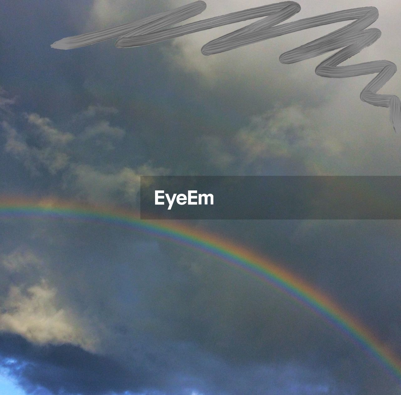 rainbow, cloud - sky, no people, sky, multi colored, low angle view, day, beauty in nature, outdoors, scenics, nature