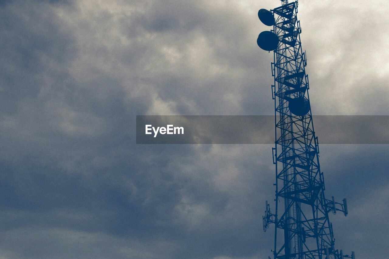 low angle view, tower, cloud - sky, sky, communication, technology, built structure, no people, day, outdoors, architecture, global communications, telecommunications equipment, wireless technology, nature