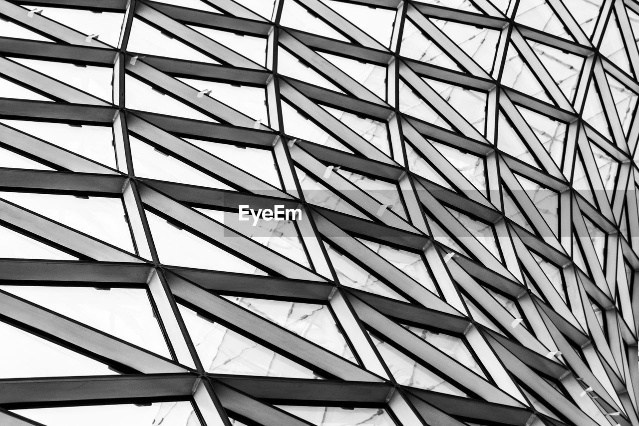pattern, full frame, built structure, backgrounds, architecture, no people, low angle view, repetition, geometric shape, building exterior, day, modern, design, close-up, architectural feature, textured, ceiling, roof, shape, office building exterior, roof beam, architecture and art