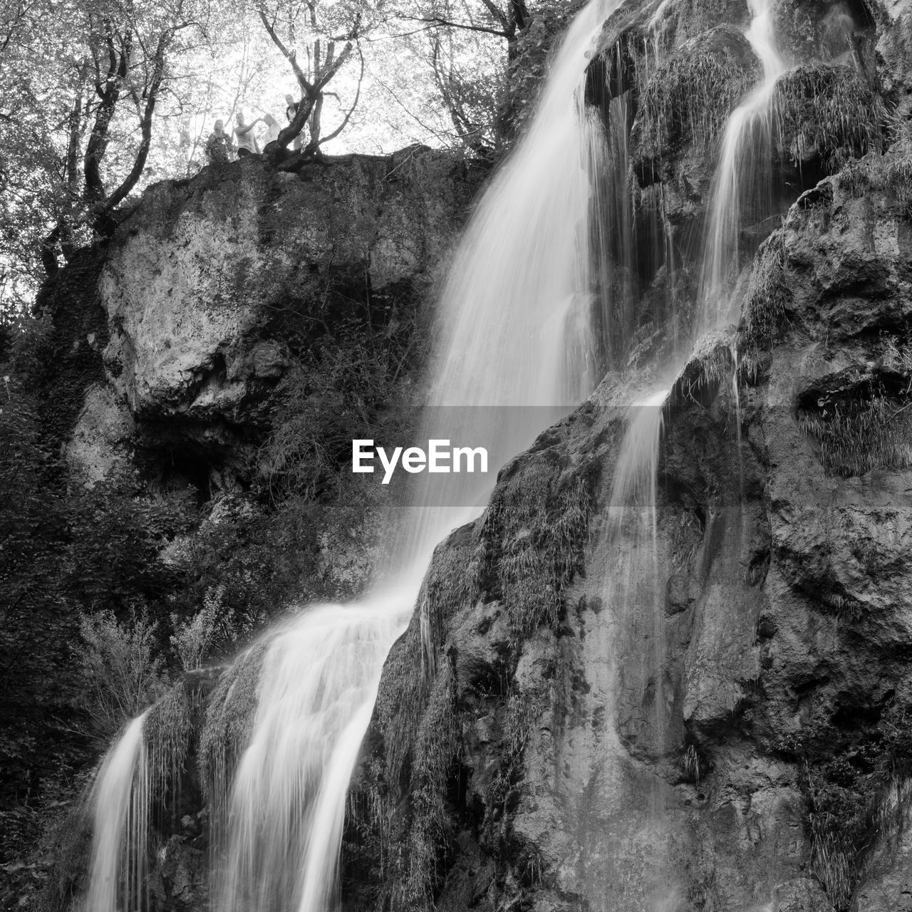 waterfall, motion, long exposure, flowing water, blurred motion, water, rock - object, beauty in nature, nature, scenics, speed, forest, rapid, outdoors, no people, day, power in nature, tree