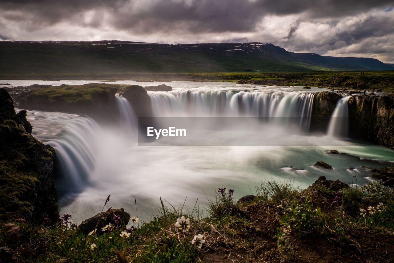 scenics - nature, water, beauty in nature, long exposure, motion, waterfall, blurred motion, cloud - sky, flowing water, sky, environment, nature, plant, forest, no people, tree, land, idyllic, flowing, power in nature, outdoors, running water
