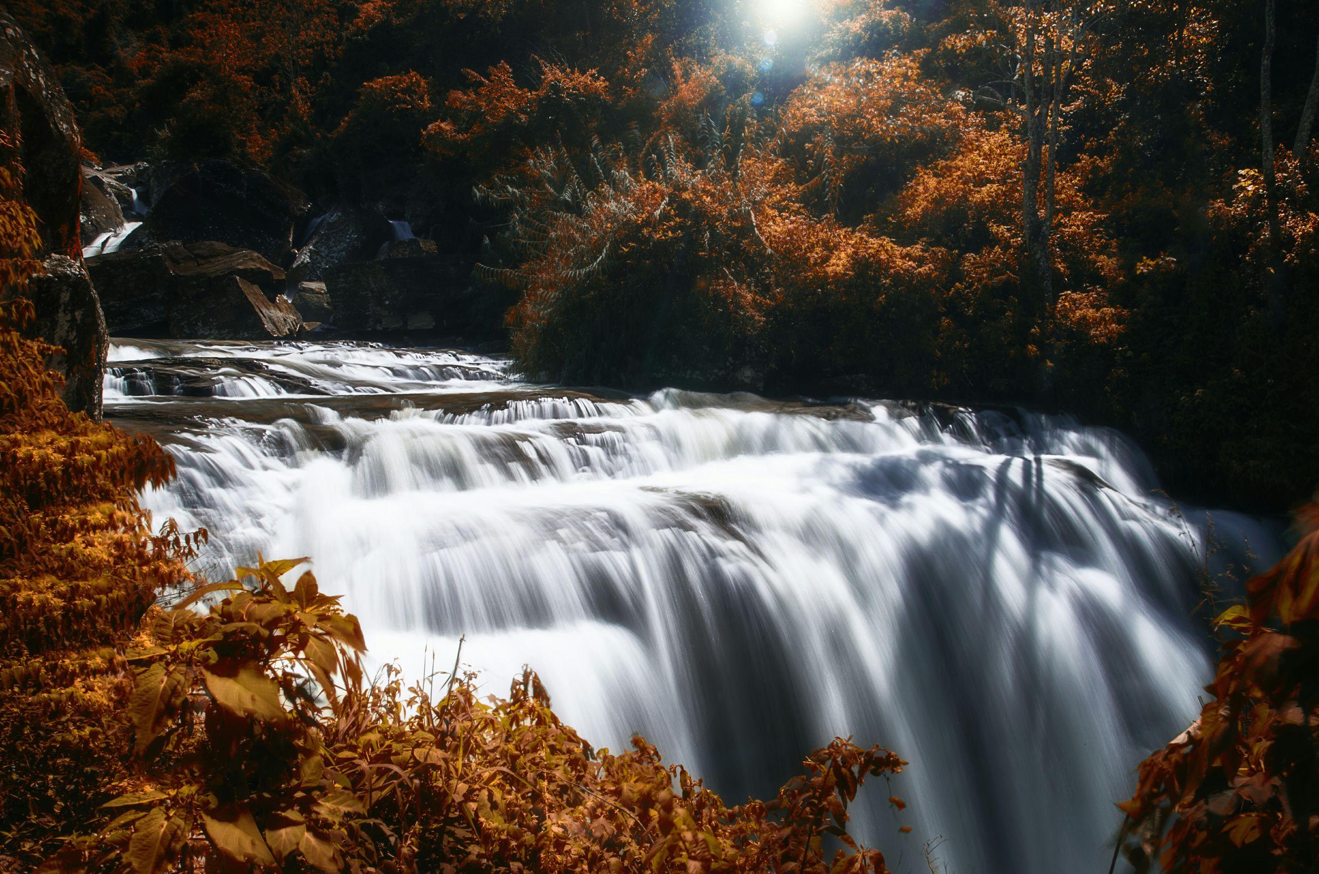 Scenic view of ramboda falls