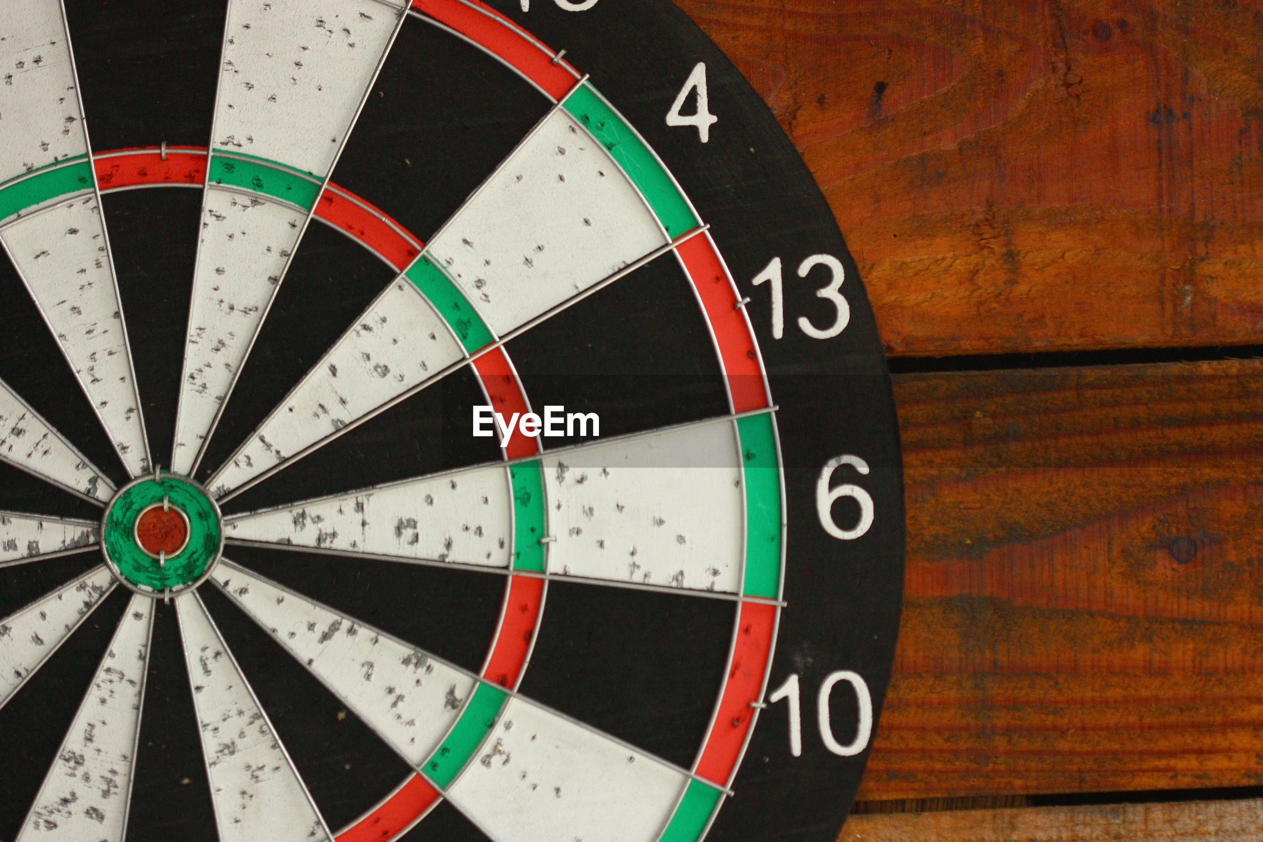 Directly above shot of dartboard on table