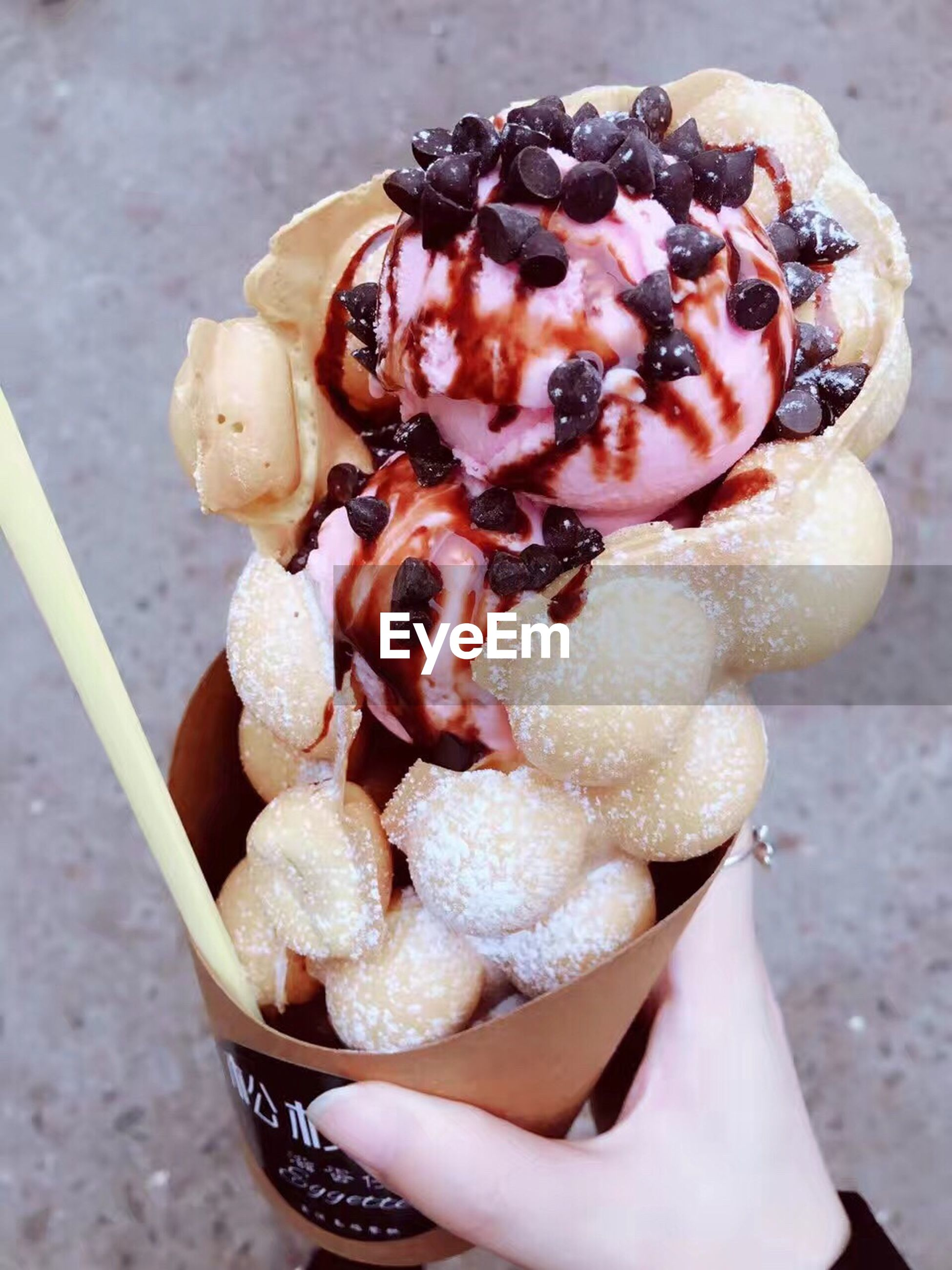 frozen food, sweet food, ice cream, food and drink, indulgence, ice cream cone, close-up, dessert, temptation, food, freshness, no people, ready-to-eat, day, outdoors, ice cream sundae