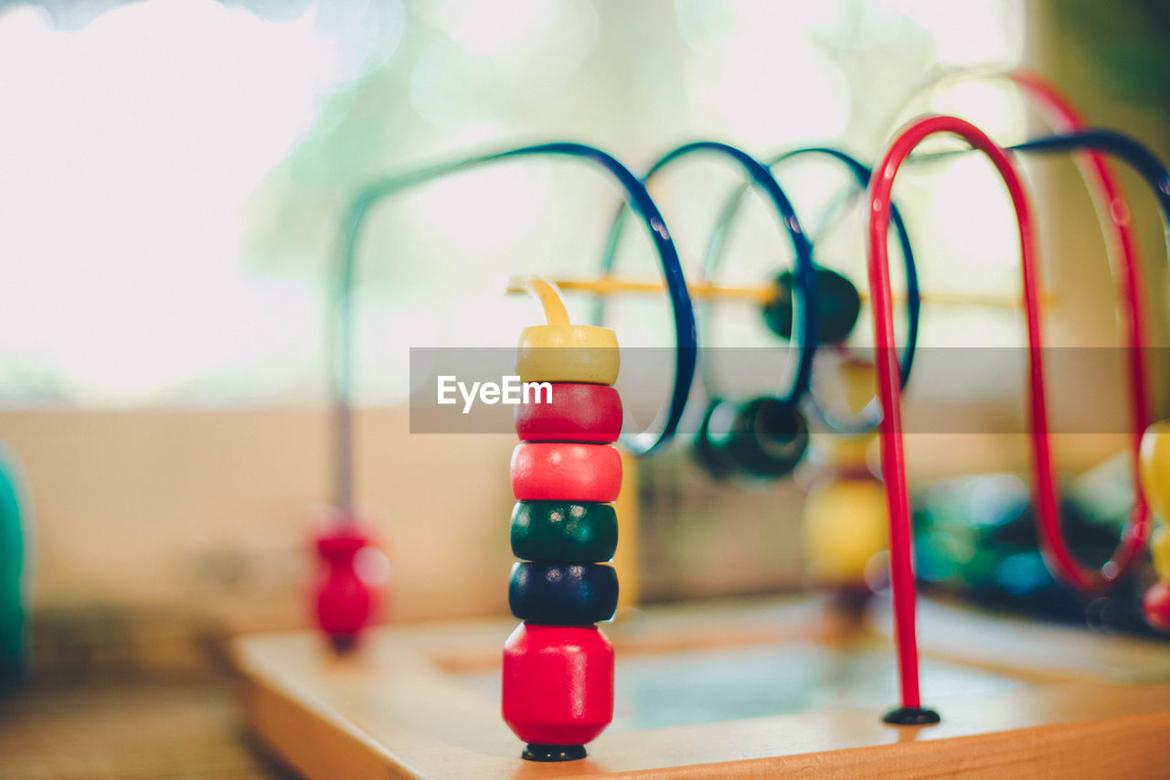 Multi colored leisure game at home