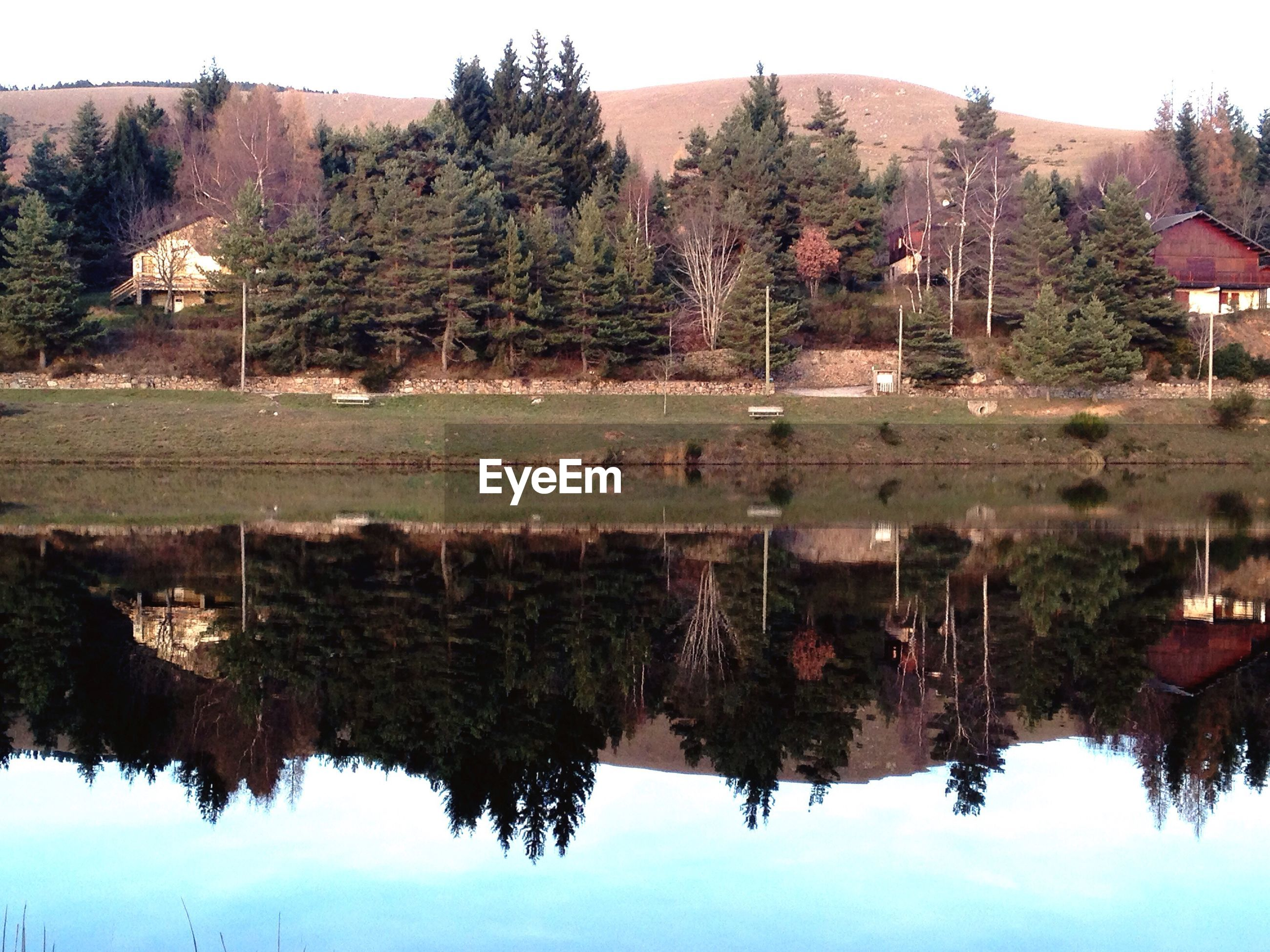 reflection, water, lake, nature, symmetry, tree, day, outdoors, no people, travel destinations, sky, architecture