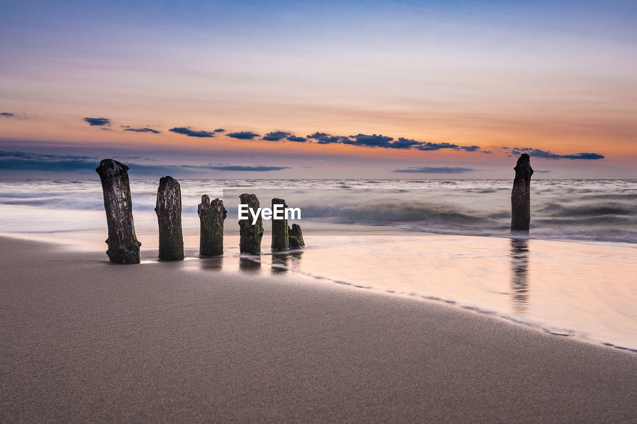 Scenic View Of Baltic Sea During Sunset