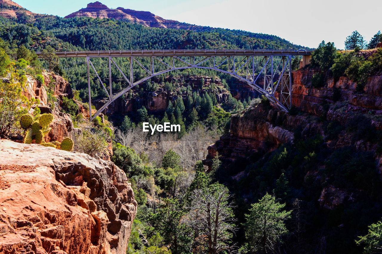 Arch Bridge Spanning Canyon