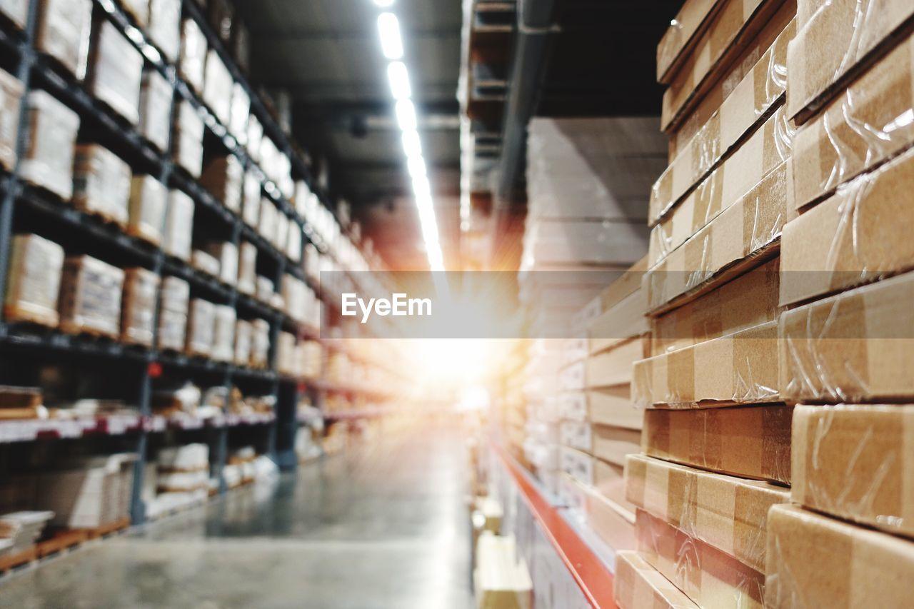 Sunlights in warehouse