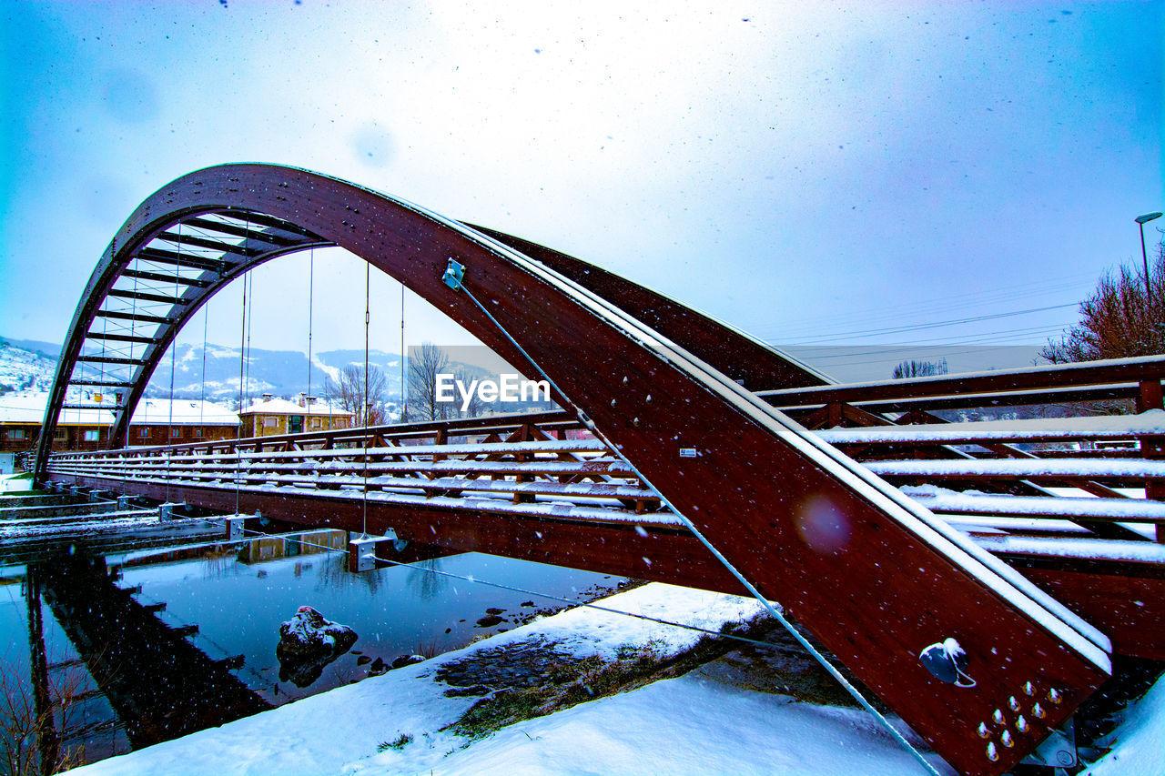 VIEW OF BRIDGE DURING WINTER