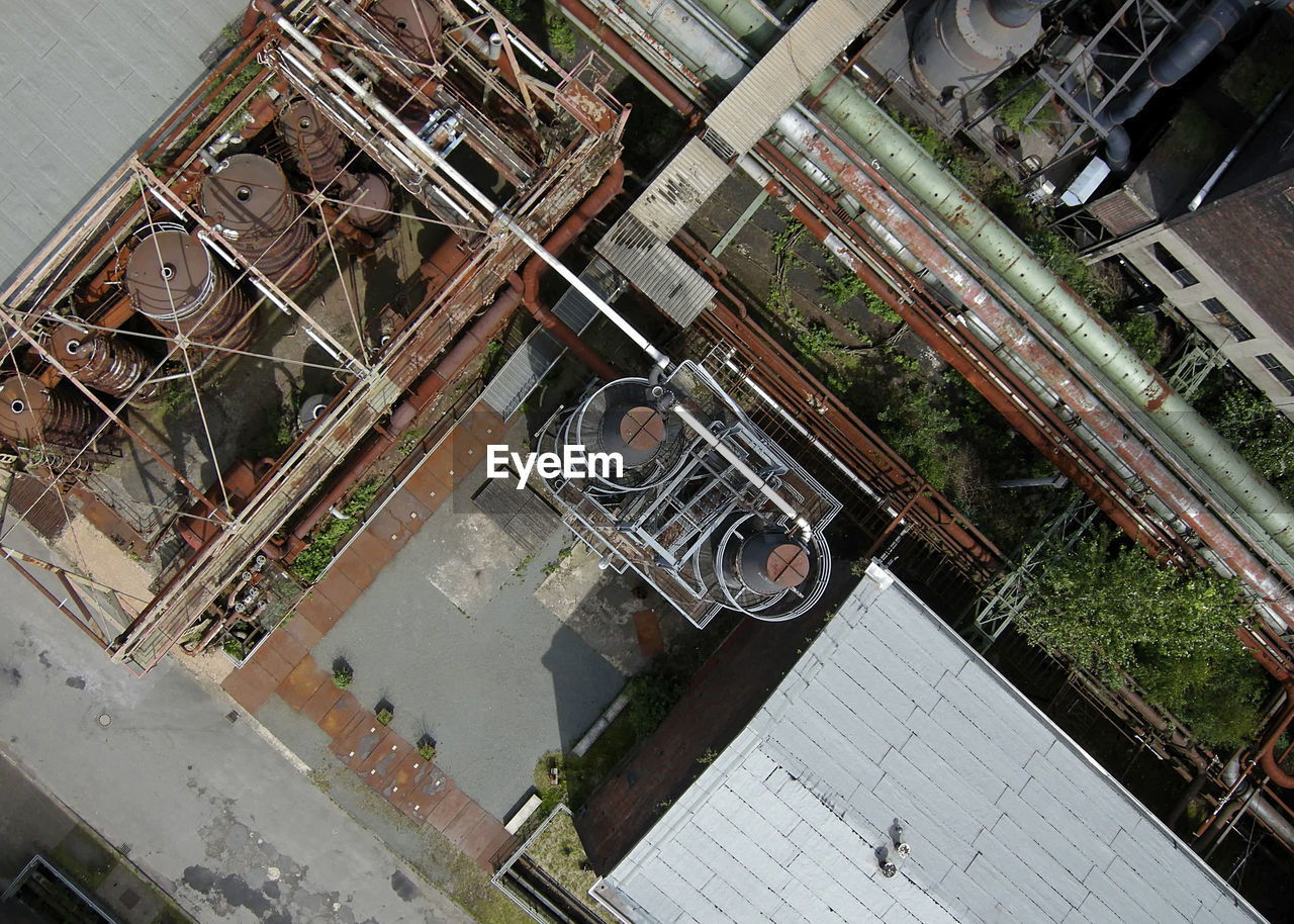 high angle view, architecture, built structure, no people, industry, building exterior, day, outdoors