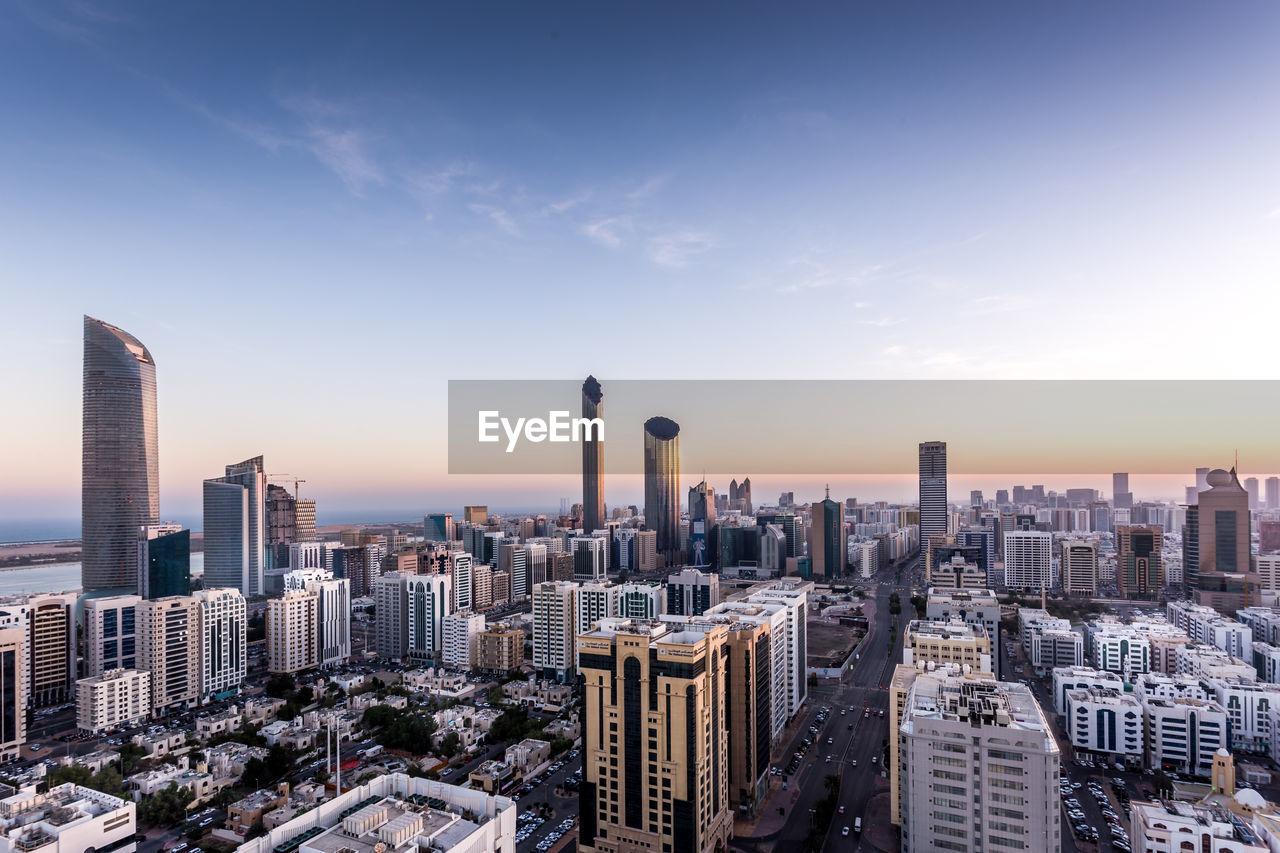 Abu dhabi morning cityscape view