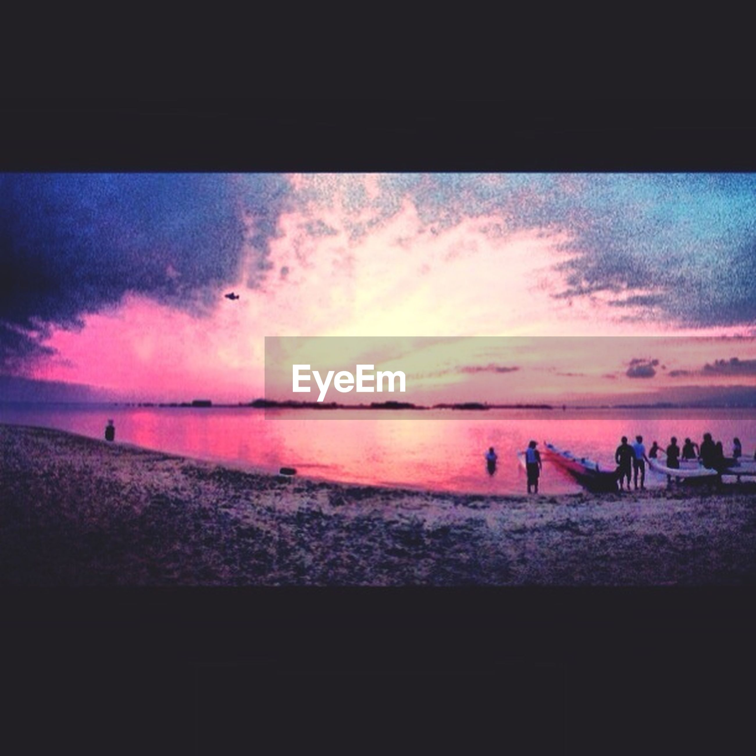 sunset, water, sea, sky, horizon over water, silhouette, scenics, beach, beauty in nature, cloud - sky, tranquil scene, transfer print, tranquility, auto post production filter, shore, nature, idyllic, cloud, orange color, dusk