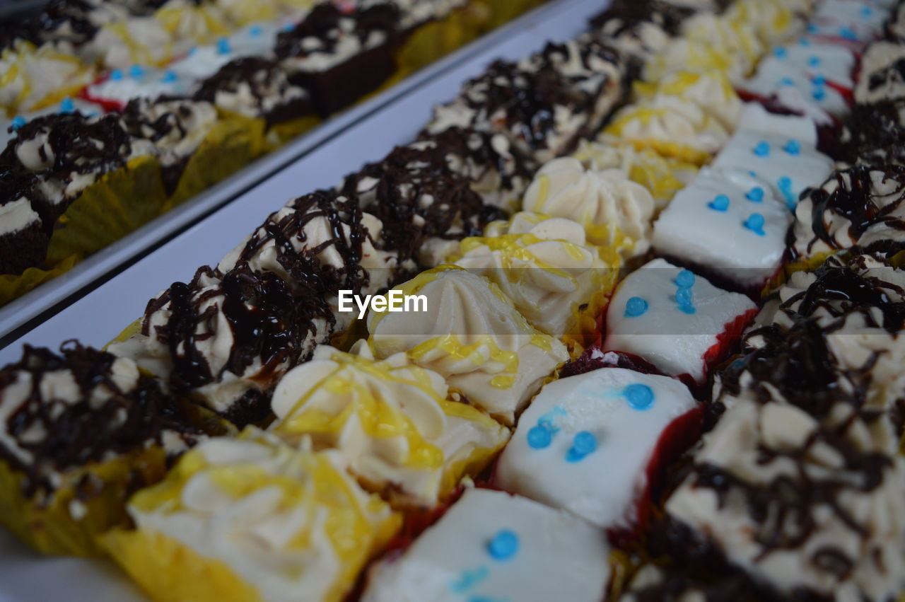 food and drink, food, indoors, variation, no people, sweet food, choice, temptation, multi colored, indulgence, ready-to-eat, freshness, close-up, day