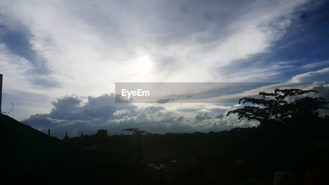 sky, nature, cloud - sky, no people, beauty in nature, tranquility, scenics, tranquil scene, outdoors, silhouette, tree, landscape, day