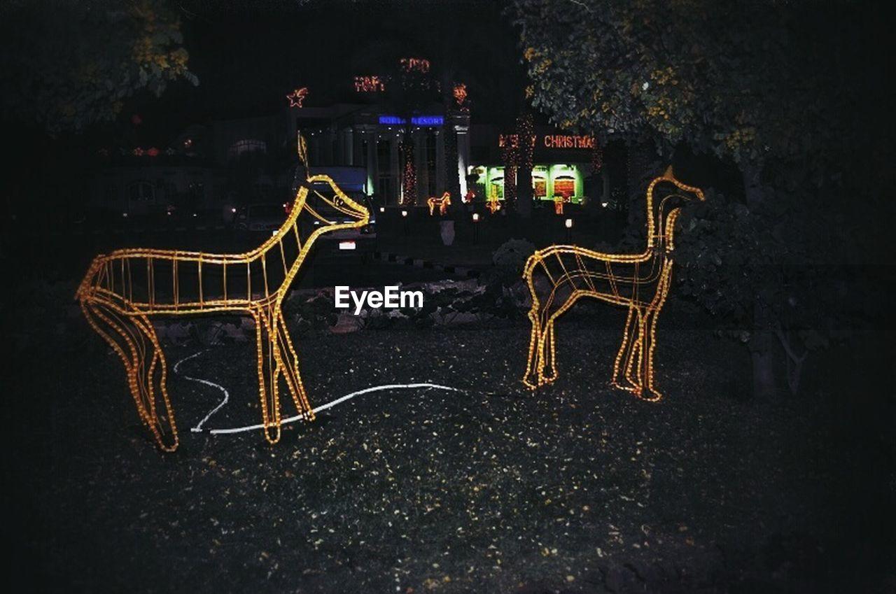 night, celebration, illuminated, christmas decoration, christmas, no people, outdoors, dragon, carousel