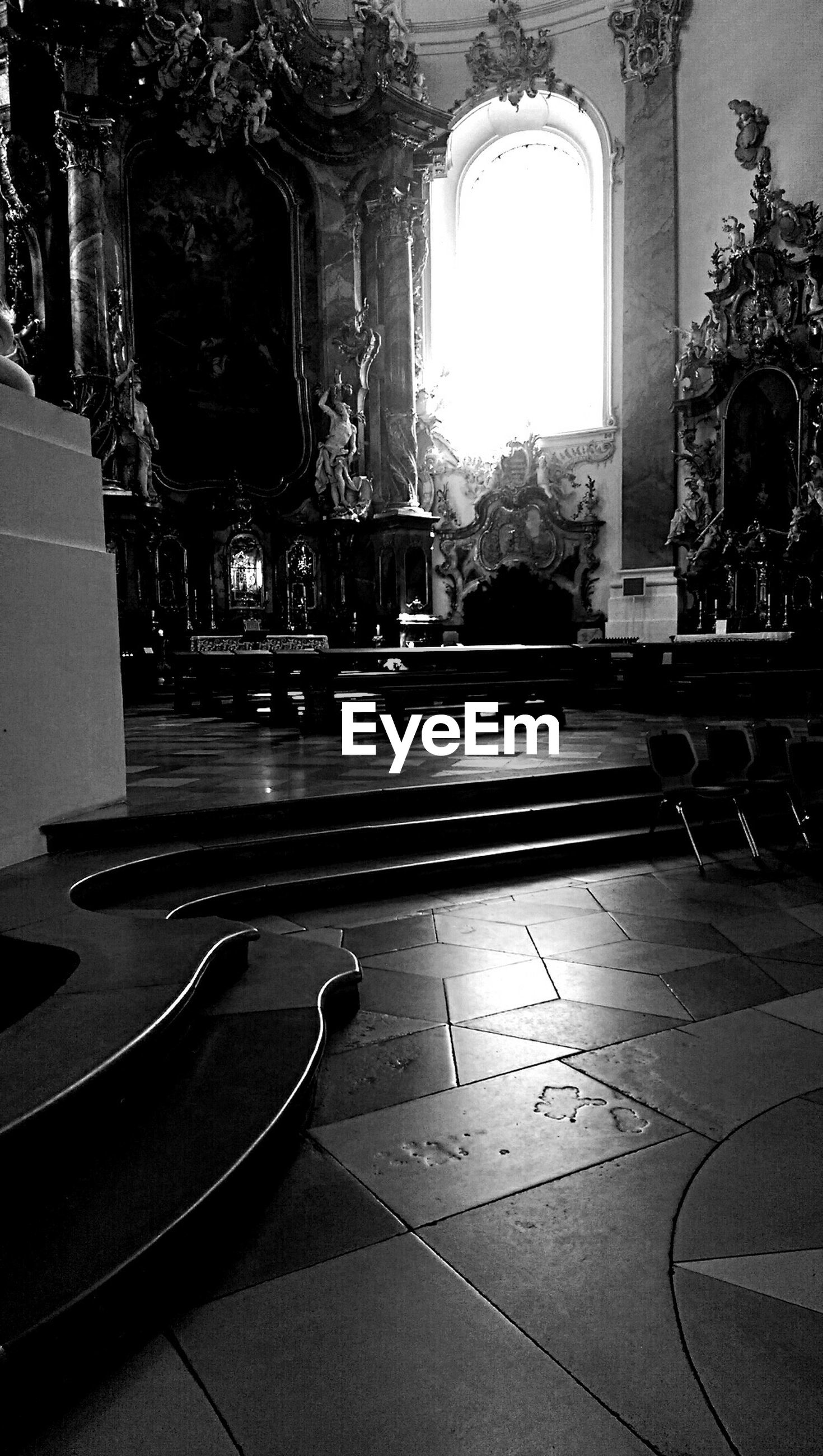 Interior of ottobeuren abbey