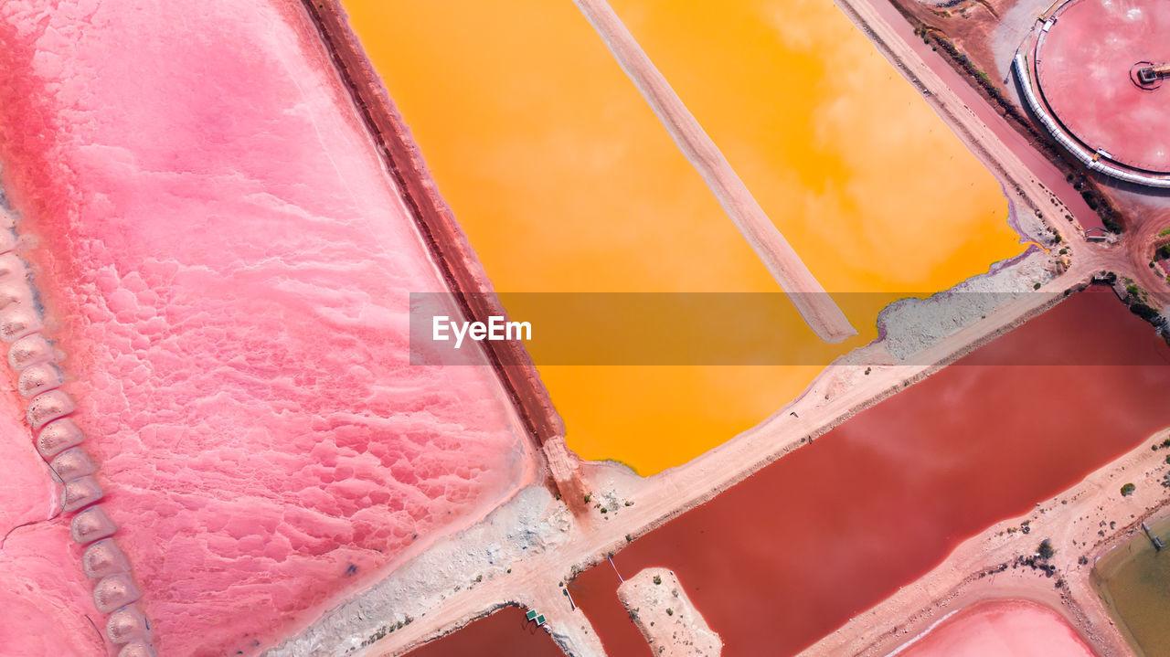 Full frame shot of multi colored land