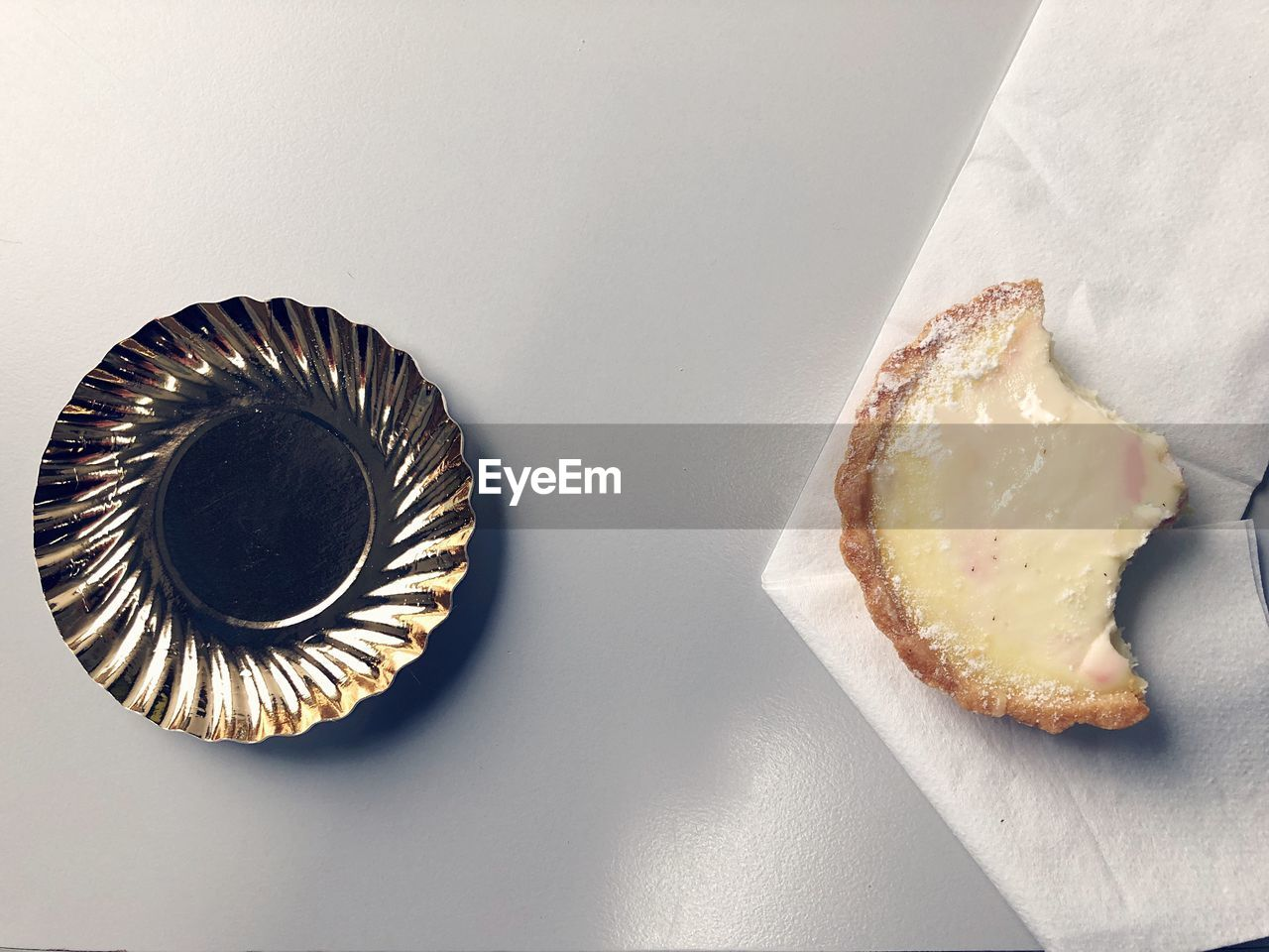 still life, indoors, no people, table, close-up, high angle view, food, food and drink, two objects, ready-to-eat, directly above, sweet food, freshness, paper, white background, baked, bread, unhealthy eating, plate, pattern, temptation, breakfast, snack