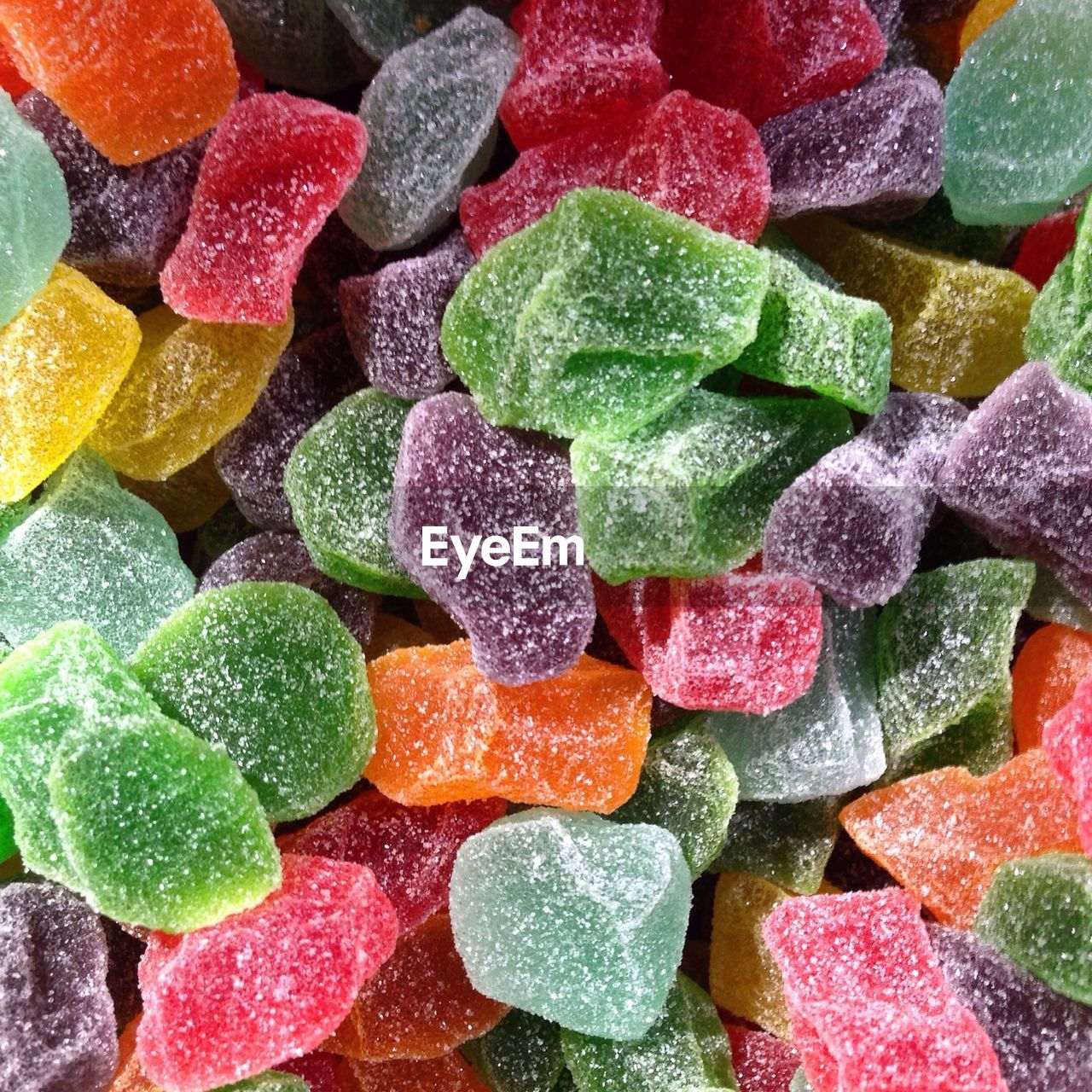 Full frame shot of colorful sugared candies