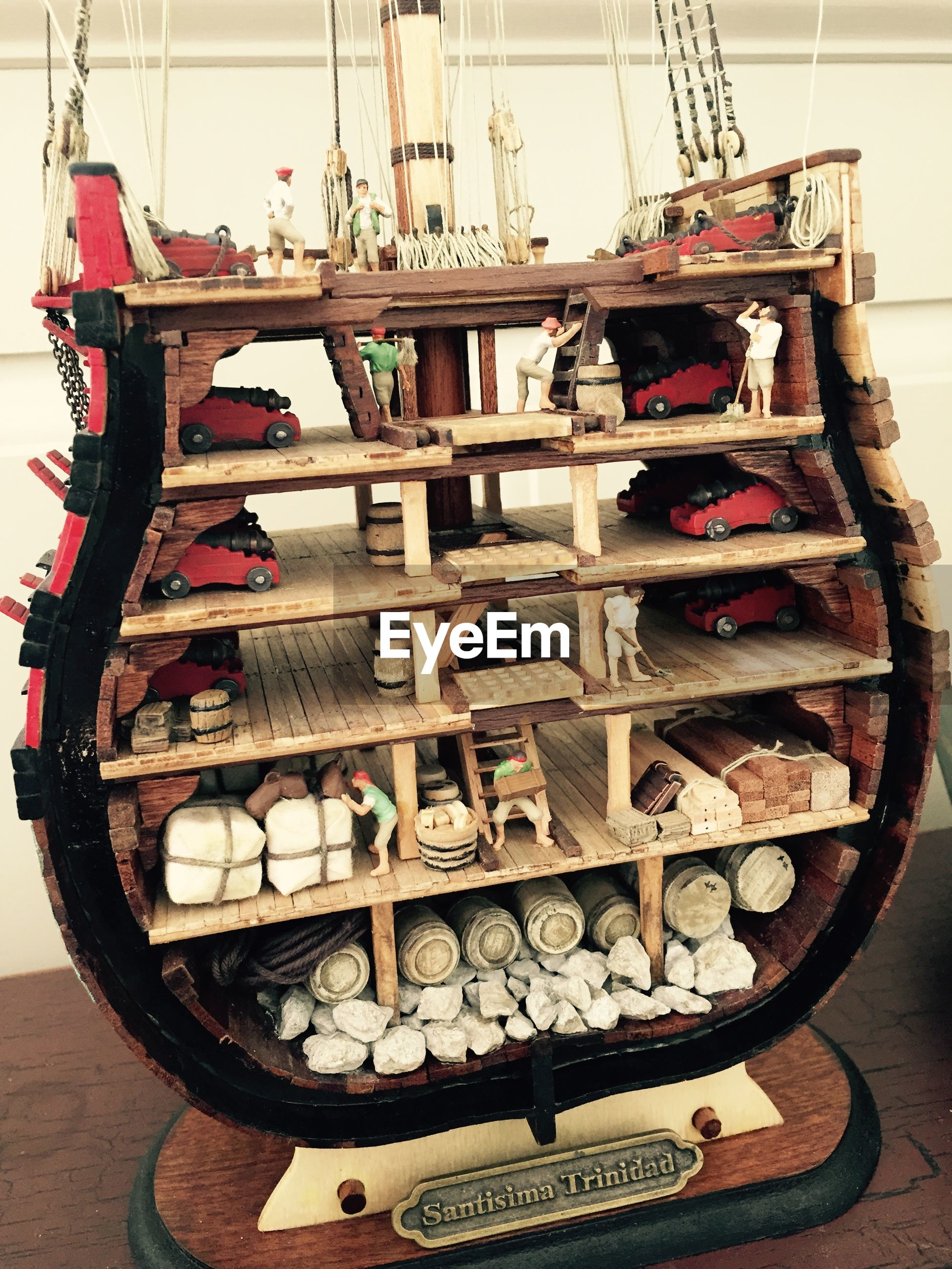 Model of traditional warship