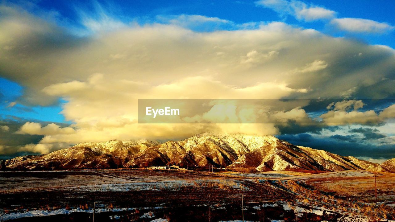 sky, cloud - sky, landscape, scenics, nature, tranquility, no people, tranquil scene, beauty in nature, outdoors, mountain, day