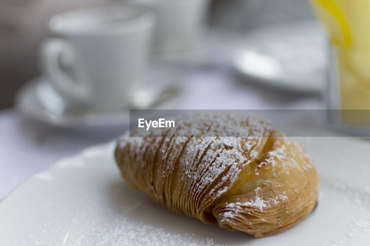 Close-Up Of Sfogliatella On Table