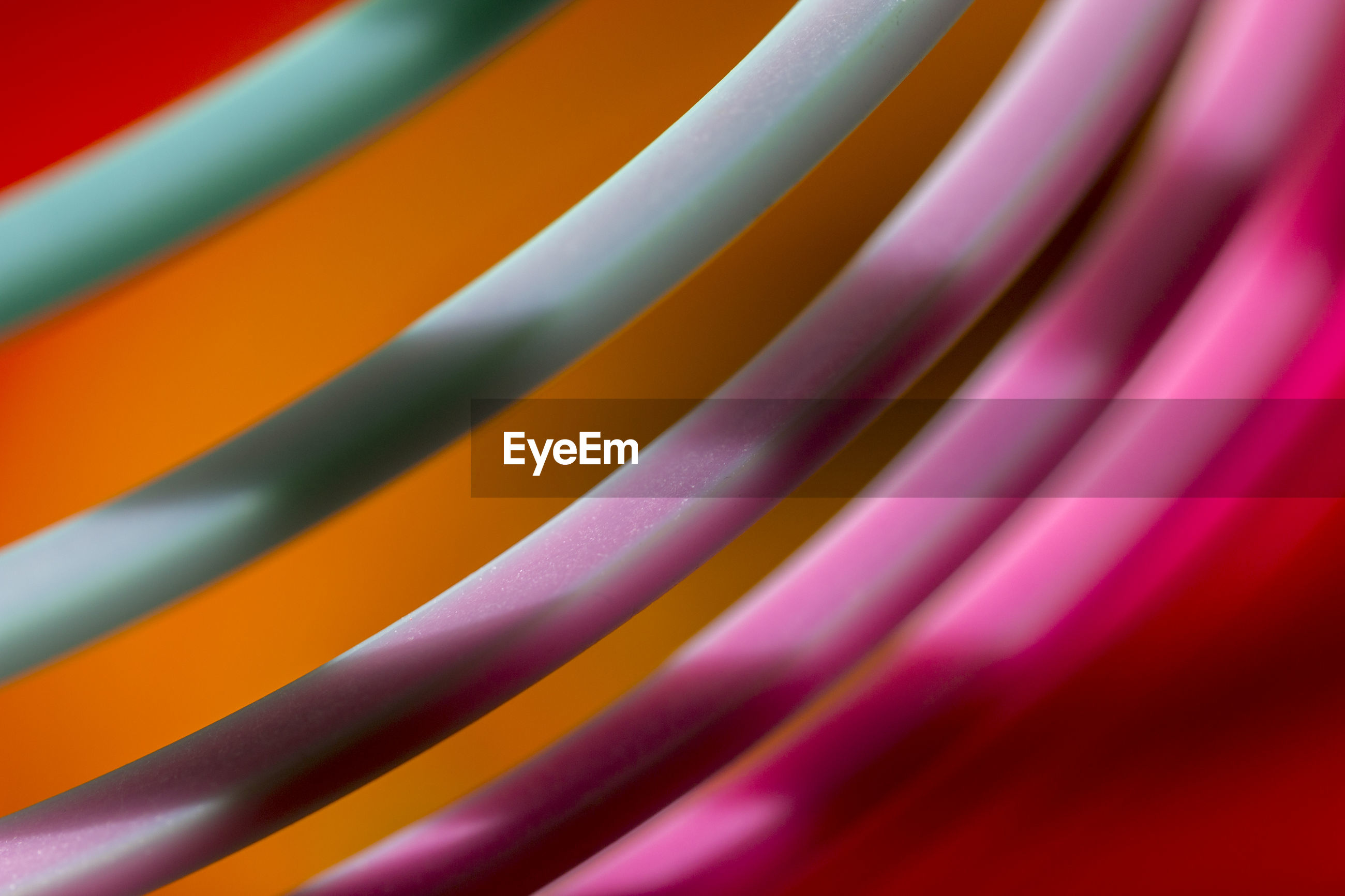 Full frame shot of colorful coiled object