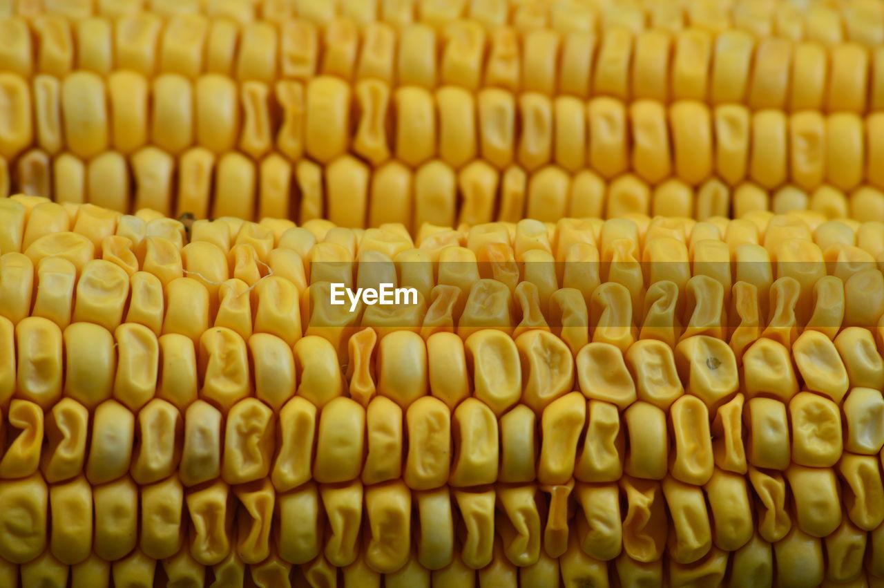 Full frame shot of yellow corn