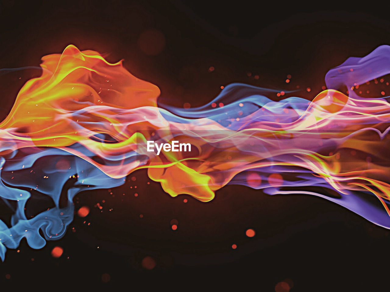 abstract, pattern, motion, studio shot, multi colored, smoke - physical structure, black background, liquid, no people, indoors, close-up, water, mixing, dissolving, ink, day