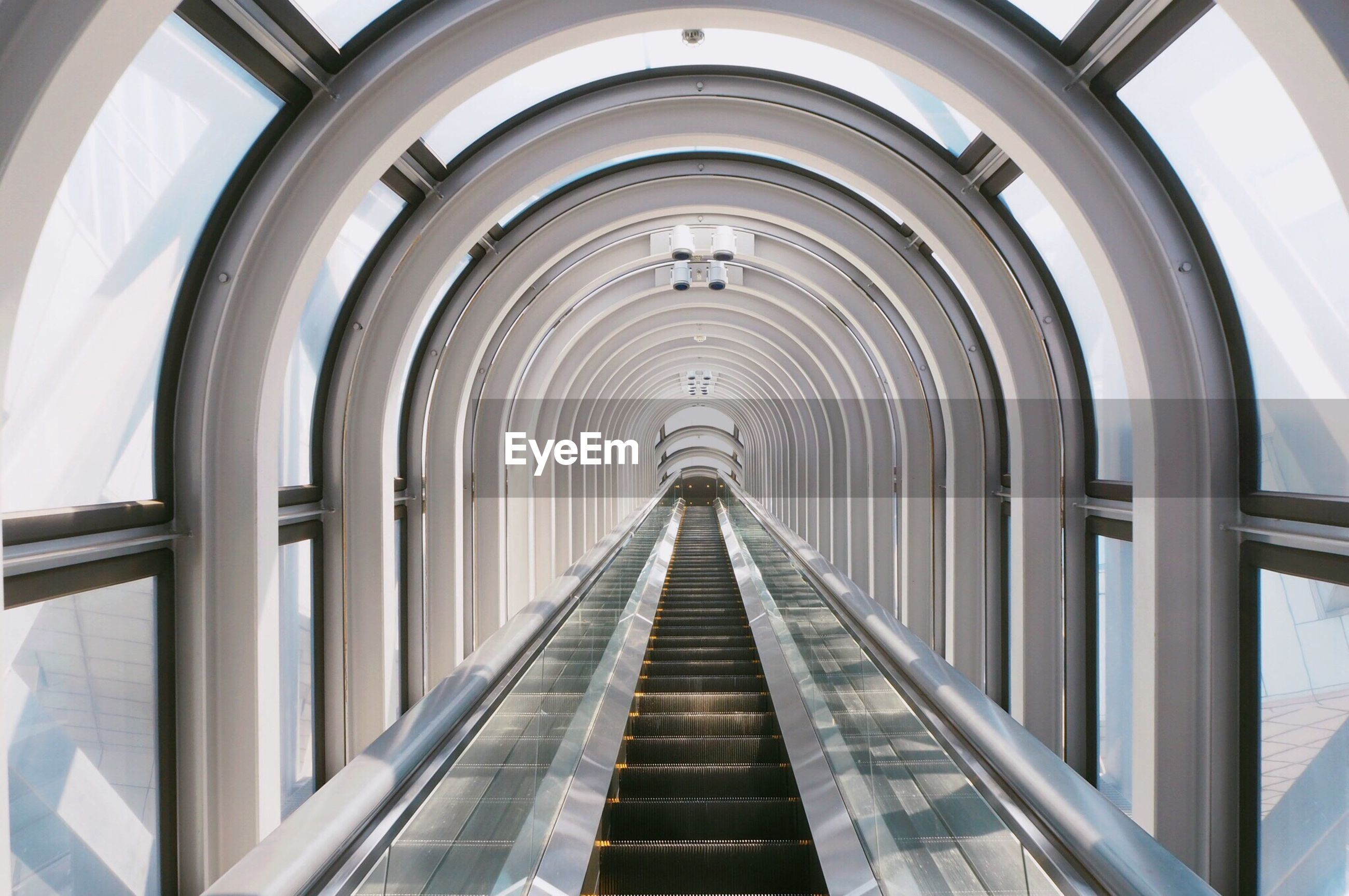 Empty escalator in umeda sky building