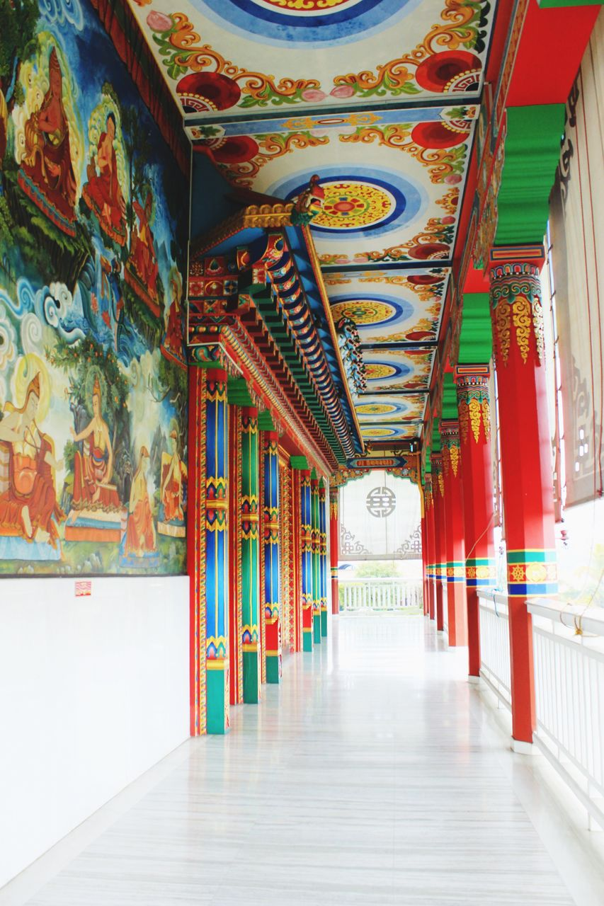 the way forward, indoors, multi colored, no people, architecture, day