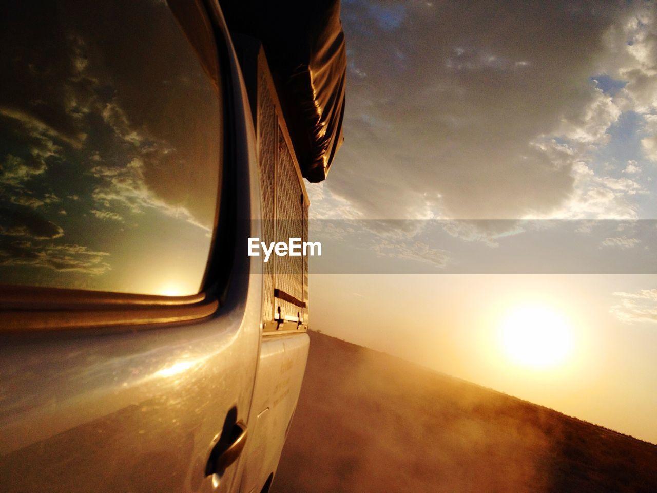 Off-Road Vehicle At Etosha National Park During Sunset