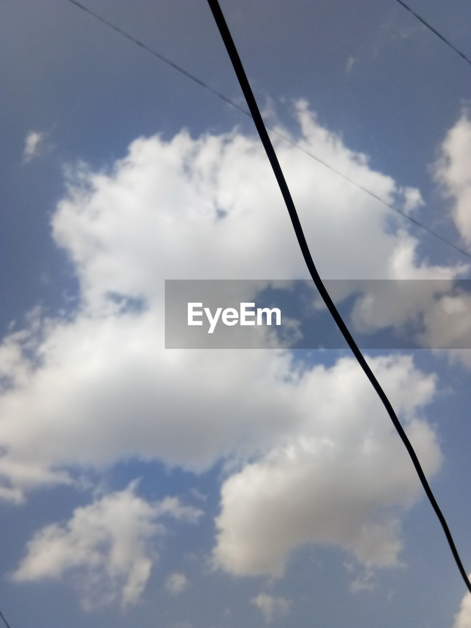 sky, cable, cloud - sky, day, low angle view, no people, outdoors, nature