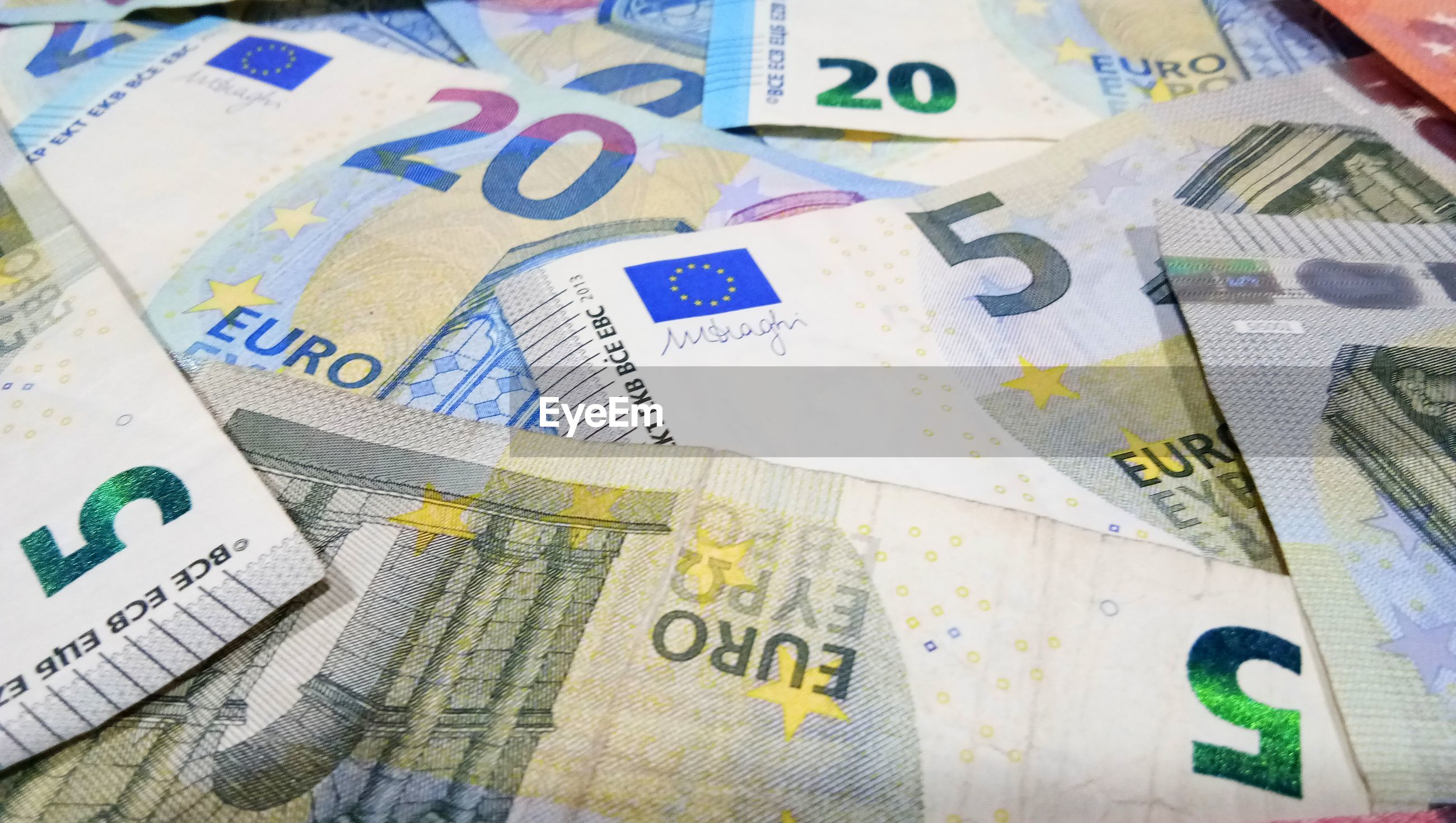 Full frame shot of currency