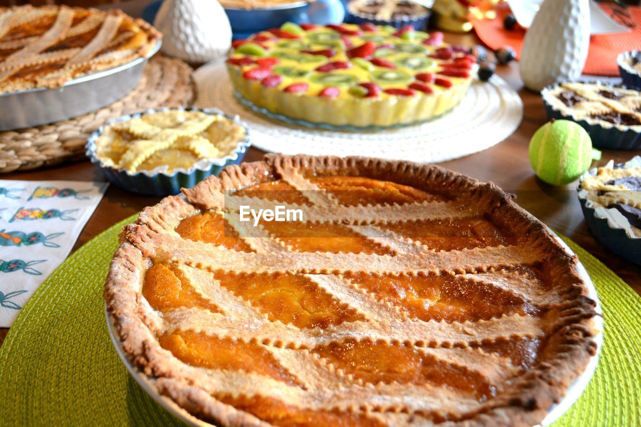 Pie On Table