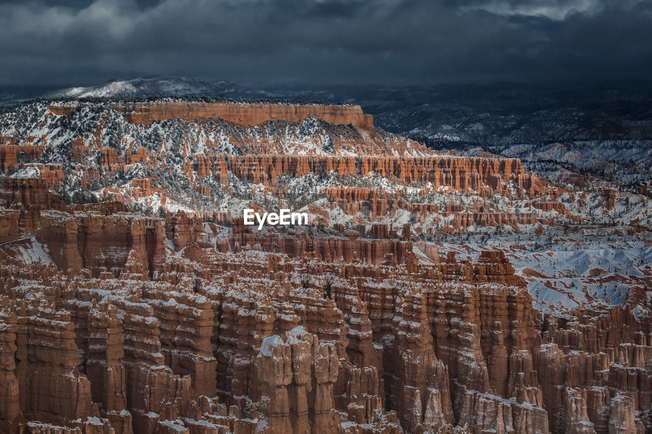 Bryce Canyon Under Stormy Clouds