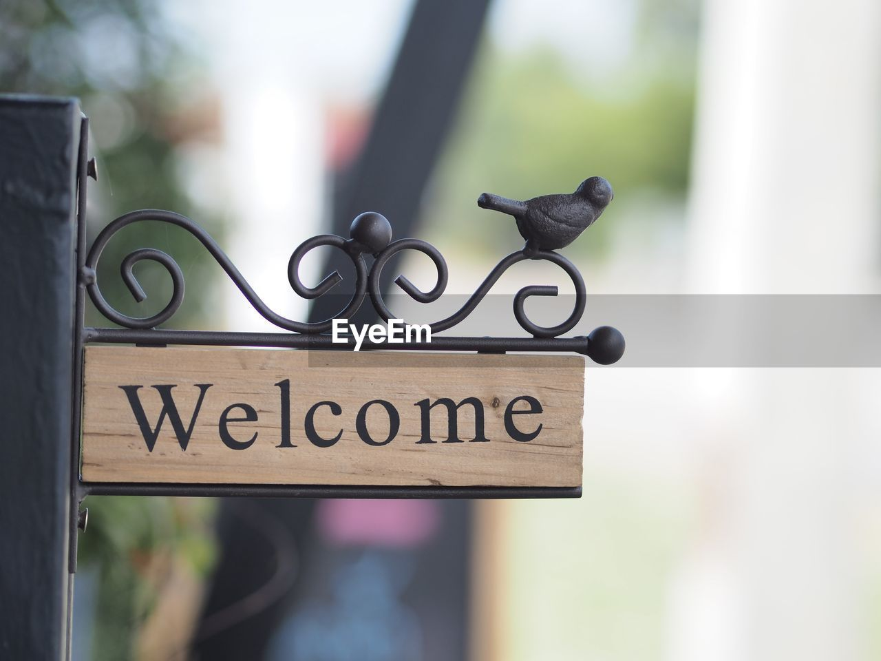 text, focus on foreground, communication, sign, western script, day, information, no people, information sign, metal, close-up, outdoors, black color, safety, security, guidance, non-western script, script, nature, protection, message, wrought iron
