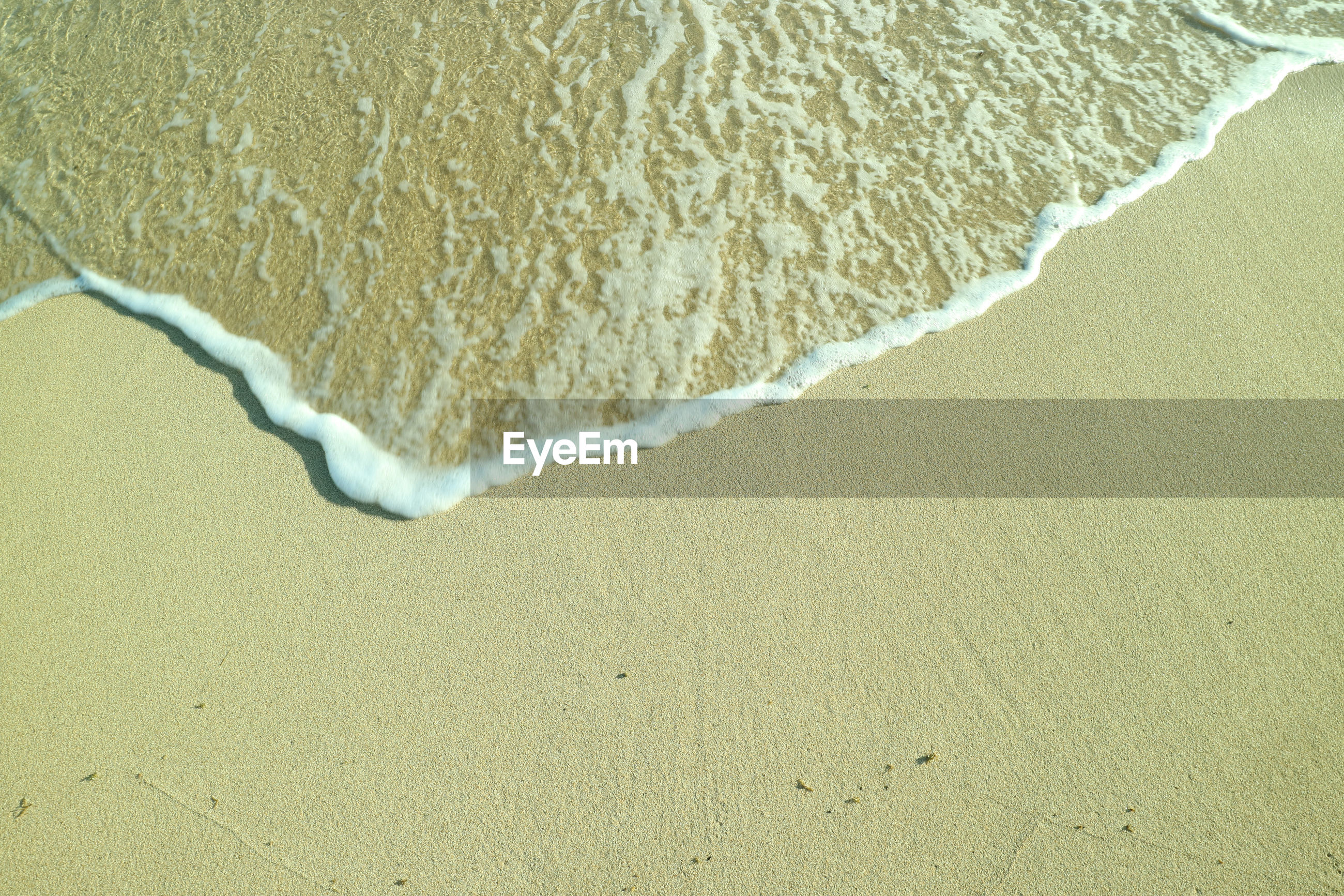 HIGH ANGLE VIEW OF SURF ON SHORE